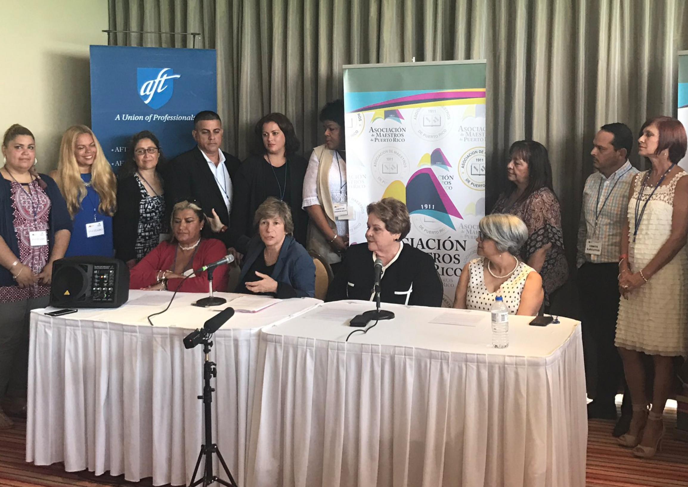 Press conference in Puerto Rico
